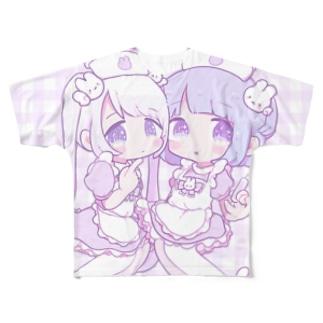 angel×nurse Full graphic T-shirts