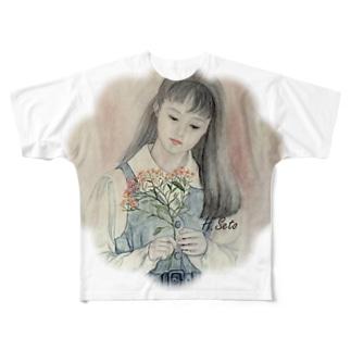 ためらい Full graphic T-shirts