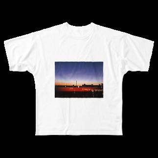 chi_n1107のhanabi no mae Full graphic T-shirts