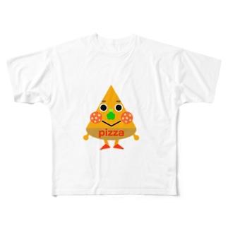 ピザくん All-Over Print T-Shirt