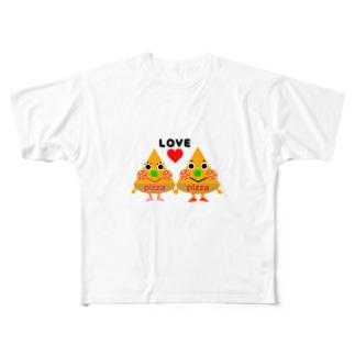 miaのピザくんとピザちゃん Full Graphic T-Shirt