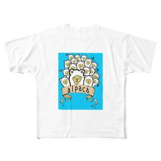 おもしろアルパカTシャツ Full graphic T-shirts