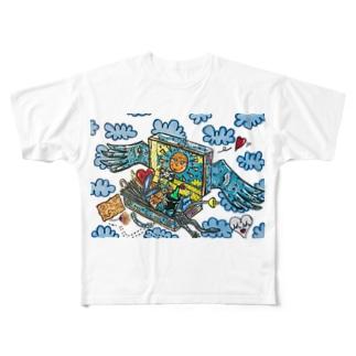 ネバーランドへの旅 Full graphic T-shirts