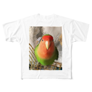 JADEのインコ界の用心棒、ジェイド之介 Full graphic T-shirts