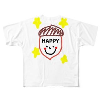 どんぐり君 Full graphic T-shirts