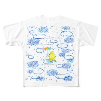 ここじゃない何処かへ行けばここじゃない何処かがここになるだけだろう Full graphic T-shirts