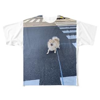 うちのいぬ さんぽ Full graphic T-shirts