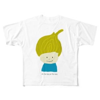 タマネギ坊や Full graphic T-shirts