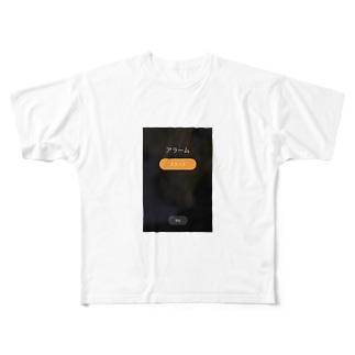 スヌーズ機能 Full graphic T-shirts
