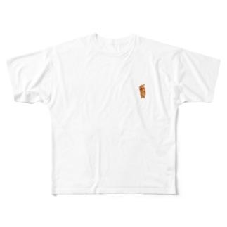 除菌消臭剤チーズ Full graphic T-shirts