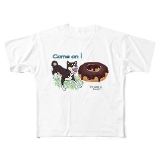 shibaのテイスティング  ドーナッツ Full graphic T-shirts