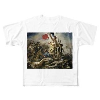 民衆を導く自由の女神 / ウジェーヌ・ドラクロワ(La Liberte guidant le peuple 1830) Full graphic T-shirts