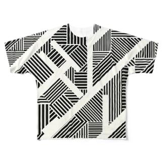 斜 Full graphic T-shirts