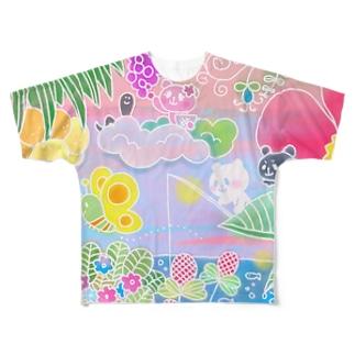 南国おやまくま Full graphic T-shirts