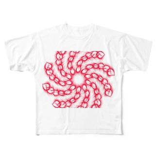 トルネード・チェーン Full graphic T-shirts