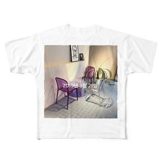 Korea🥤 Full graphic T-shirts