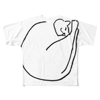 まる猫 まるる Full graphic T-shirts