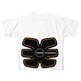腹筋鍛えマッスル Full graphic T-shirts