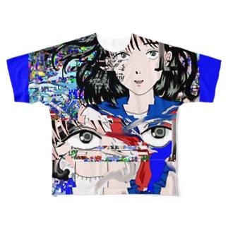 幽霊文字の解読㌁ Full graphic T-shirts