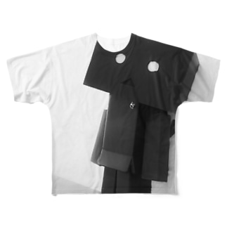 ダンボーBLACK Full graphic T-shirts