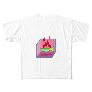ななまるの燃えるトランペット Full graphic T-shirts