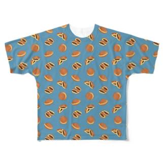 どら焼きにまざるモンT Full graphic T-shirts