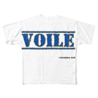 高島ベースーVOILE Full graphic T-shirts