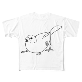 文鳥グリフォン Full graphic T-shirts