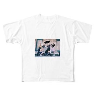 雪解けさん Full graphic T-shirts