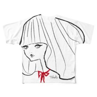リボンちゃん@Takako Full graphic T-shirts