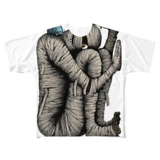 箱詰めミイラ Full graphic T-shirts