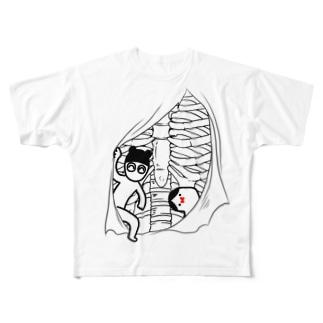 くますくさんとおじぎさん Full graphic T-shirts