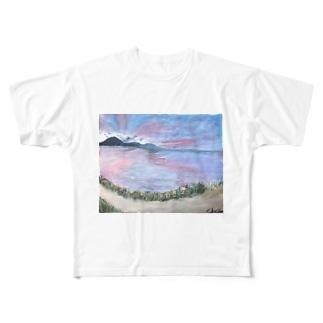 skyさん作!琵琶湖いえあ Full graphic T-shirts