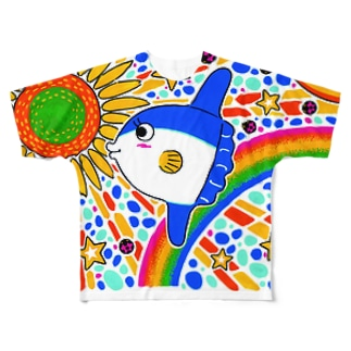 空飛ぶマンボウ Full graphic T-shirts