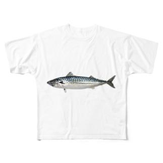 鯖(さば) Full graphic T-shirts