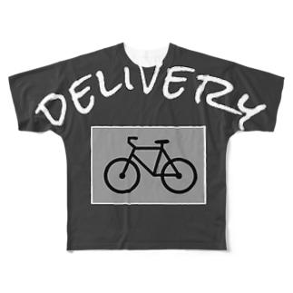 個人配達員用グッズ Full graphic T-shirts