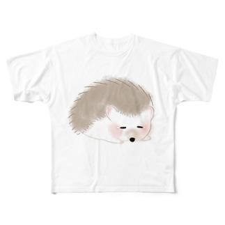 ハリネズミのティラミス Full graphic T-shirts