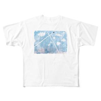 あおぞら Full graphic T-shirts