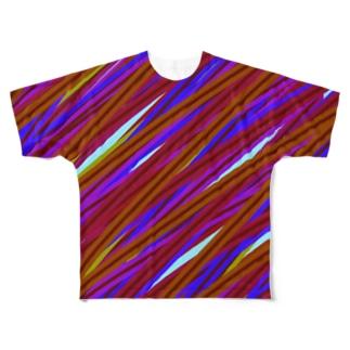 毛糸 Full graphic T-shirts