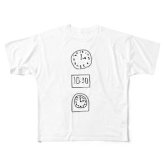 時間厳守 Full graphic T-shirts