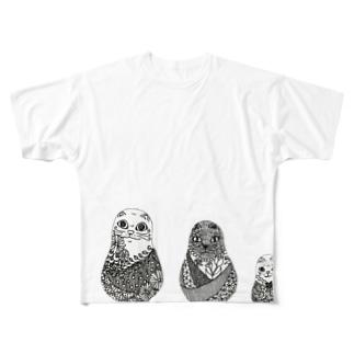 ネコリョーシカ Full graphic T-shirts