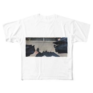 なかよしこよし Full graphic T-shirts