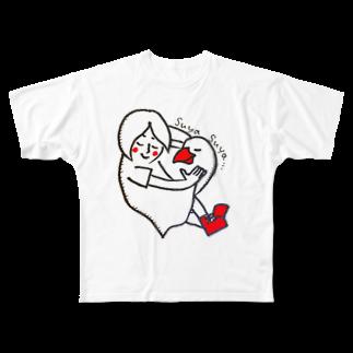 nemramの文鳥とすやすや Full graphic T-shirts