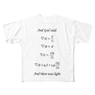Maxwell方程式よあれ! Full graphic T-shirts