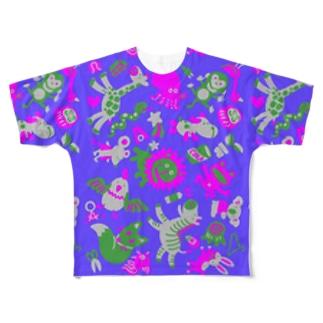 サイケ Full graphic T-shirts