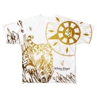 白虎 Full graphic T-shirts