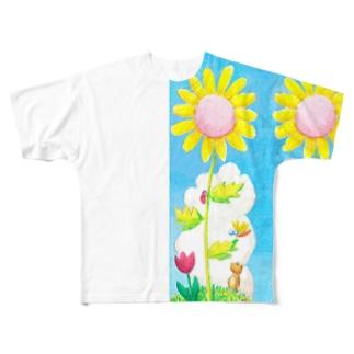 ひまわり音楽隊 Full graphic T-shirts