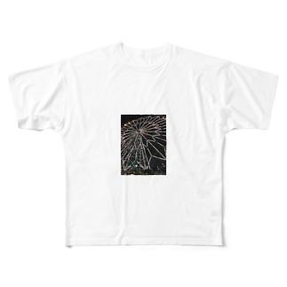 カラフルデザイン Full graphic T-shirts