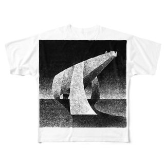 monochrome polar bear Full graphic T-shirts