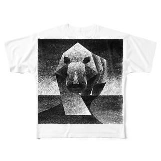 Monochrome rhino Full graphic T-shirts